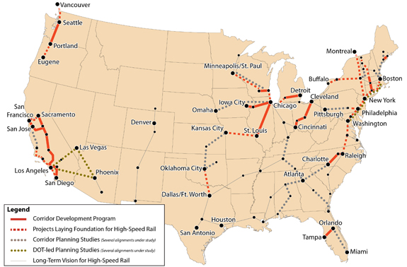 High-Speed Intercity Passenger Rail Program Investment Map, via ##http://www.fra.dot.gov/rpd/passenger/2243.shtml## USDOT##