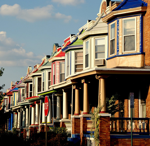 Row Houses In Baltimore Md : Smart growth to blame for the housing crash not by a long