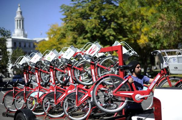 Bikes Denver Denver s B Cycle is under fire