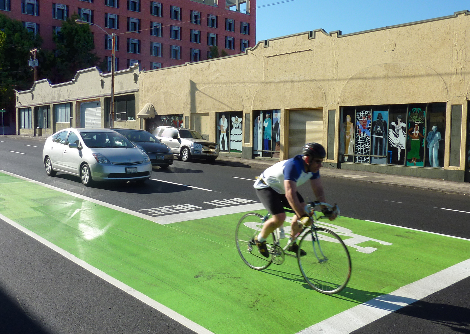 Bikes Portland Oregon Bike boxes may soon be updated
