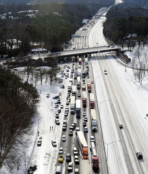 What's the answer Atlanta's traffic nightmare this week? Image: The Casa Curtis