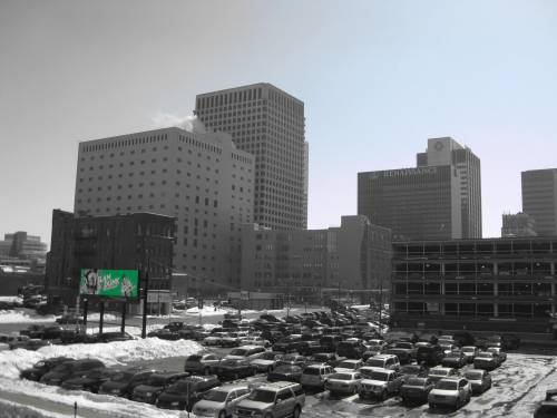 The Columbus, Ohio region could support the construction of more than 1 billion square feet of commercial development on existing parking lots alone, a recent study found. Image: Richard Webner via Streetsblog