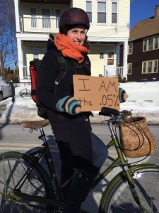 Social media campaigns by Boston cyclists seized on some unfortunate remakrs by state officials to dramatize the plight of the city's winter cyclists. Image: Boston Cyclists Union