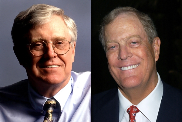 Long arm of the koch brothers extends to nashville to slap for David und charles koch