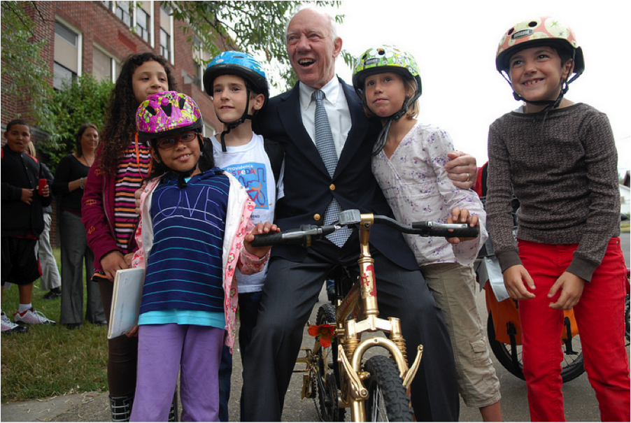 Rep. Jim Oberstar, who died early Saturday morning, was an architect of the Safe Routes to School program. Photo: ##https://www.flickr.com/photos/bikeportland/4973213624/in/photostream/##Jonathan Maus / Bike Portland##