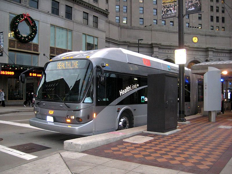 Cleveland's Healthline BRT has been named the best in the country. But it runs slower than expected. Photo: Wikipedia