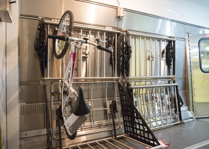 Roll-on bike storage, coming soon to Amtrak trains. Photo: Amtrak