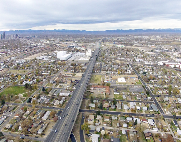 Denver's plan for I-70 is to bury it, widen it and cap it. Image: I70east.com