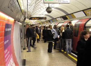 Those who take transit to work in the UK have less body fat, according to a new study. Photo: ##http://commons.wikimedia.org/wiki/File:London.underground.arp.750pix.jpg##Wikimedia##