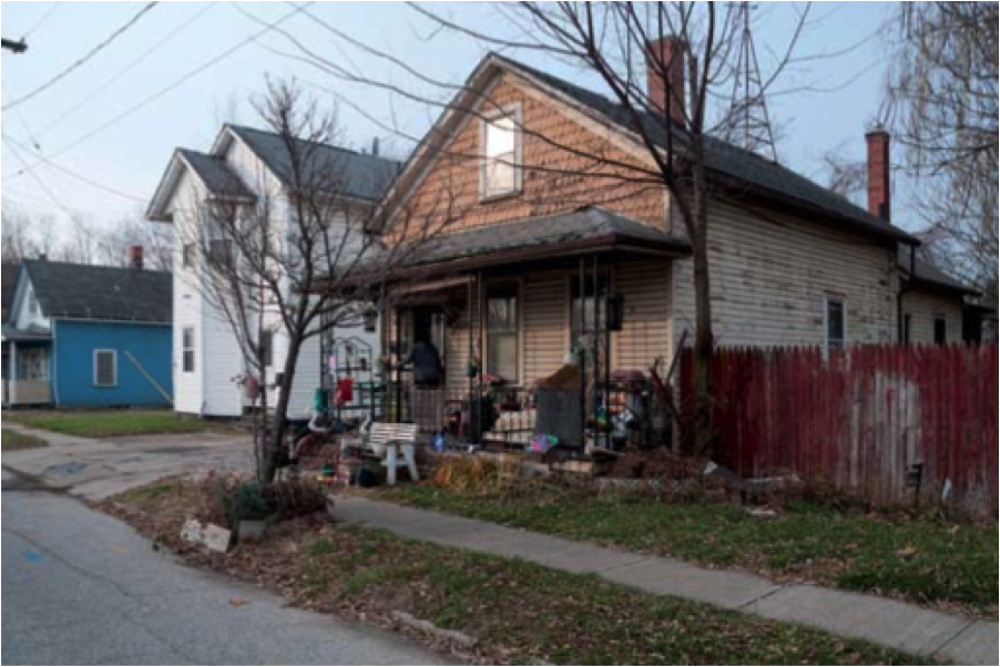 Residents of this depressed Cleveland neighborhood don't see much opportunity in the new Opportunity Corridor that's going to destroy 76 homes.  Photo: Bob Perkoski