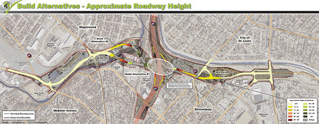 Plans for the $120 million South County Connector. Image: St. Louis County via nextSTL