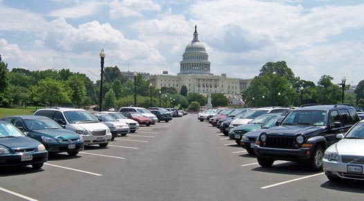How much are these free parking spots worth? Probably more than the $250 parking benefit Congress allows. Photo: ##http://www.jmt.com/project-portfolio/us-senate-parking-lot-study/##JMT##