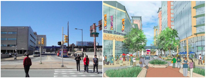 A state-level funding grant program in Pennsylvania is helping fund this campus master plan for Drexel University in Philadelphia. Image: Transportation for America