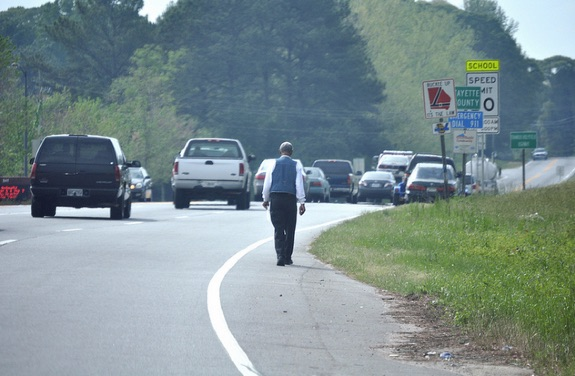 Why are so many people killed in traffic? Hmm, what could it be... Photo: Transportation for America/Flickr