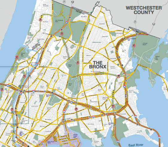 New York City's truck route map