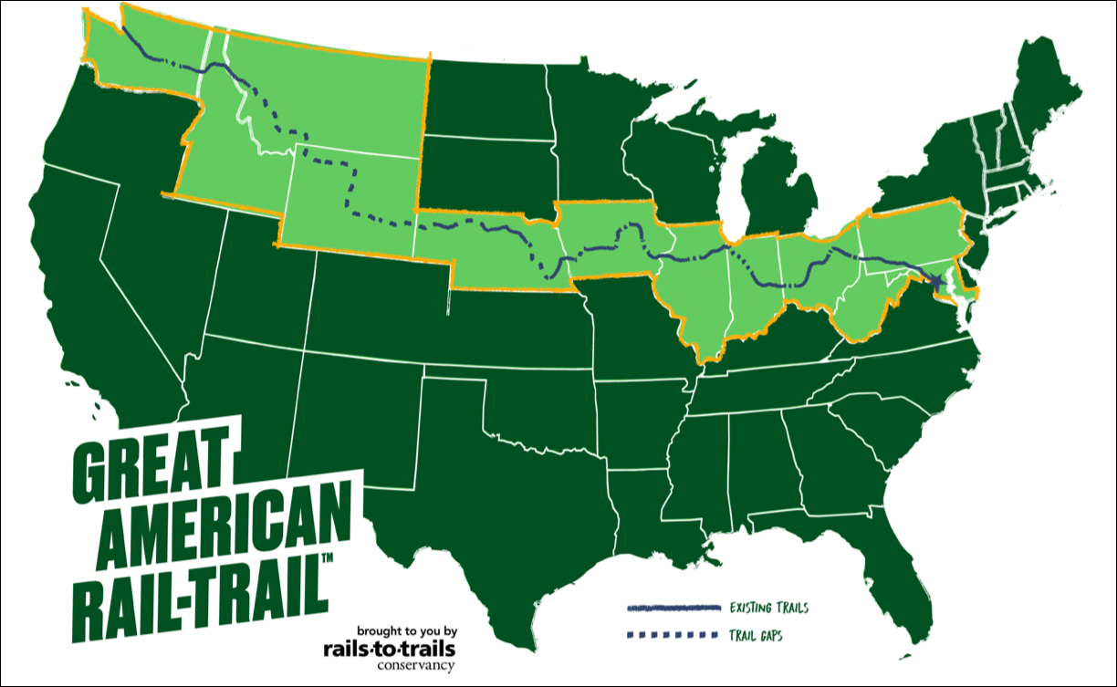 A Bike Trail from Washington to Washington — It's Happening ... In What State Is Washington D C On The Map on
