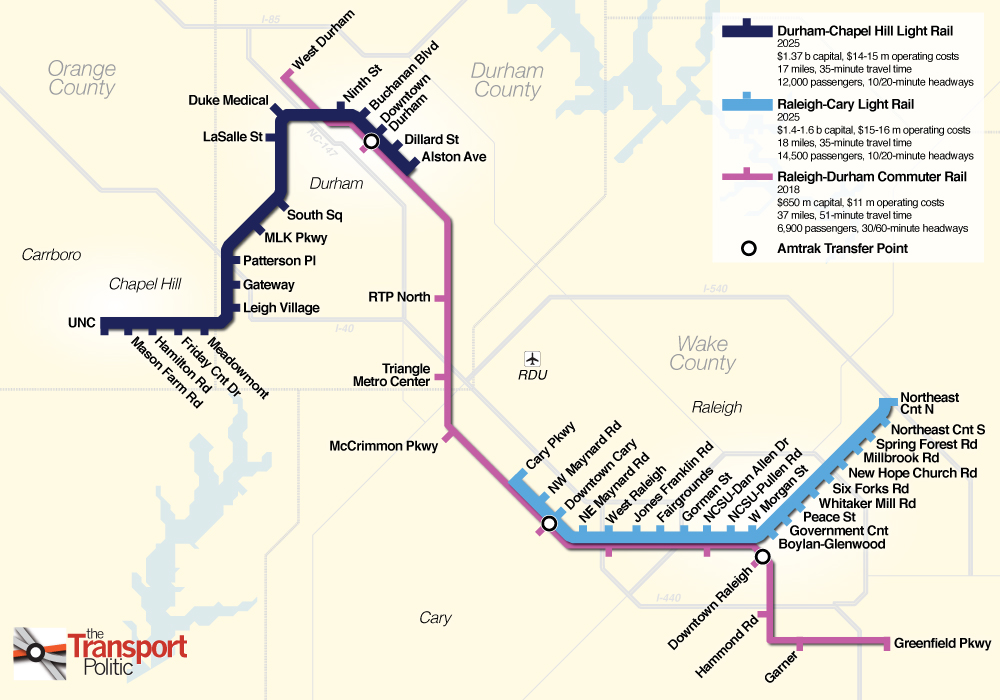 Charlotte Nc Sales Tax >> Raleigh-Durham Voters Give Go-Ahead to Light Rail Plans ...
