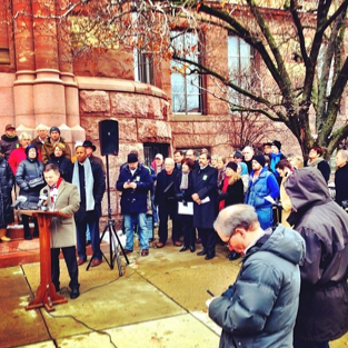 Streetcar supporters held a press conference yesterday marking the beginning of a signature drive they hope will overturn City Council's decision to pause the Cincinnati streetcar. Image: ##http://www.urbancincy.com/2013/12/the-plot-continues-to-thicken-for-cincinnatis-133m-streetcar-project/## Urban Cincy##