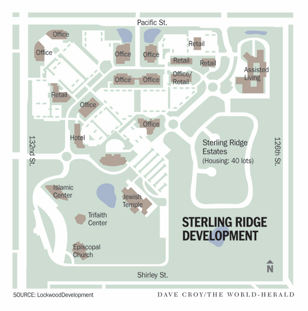 """This development in Omaha is being as a """"walkable"""" """"Main Street."""" Image: Lockwood Development via Strong Towns"""