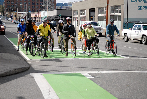 Most cyclists in Portland are following the rules, according to a new study. Photo: Jonathan Maus