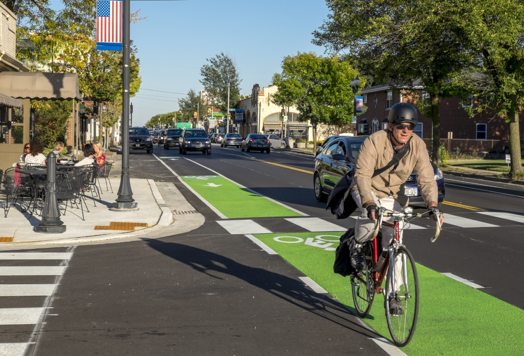 The redesign of North Avenue in Wauwatosa, just outside Milwaukee, is being credited with spurring a business boom. Photo: Urban Milwaukee