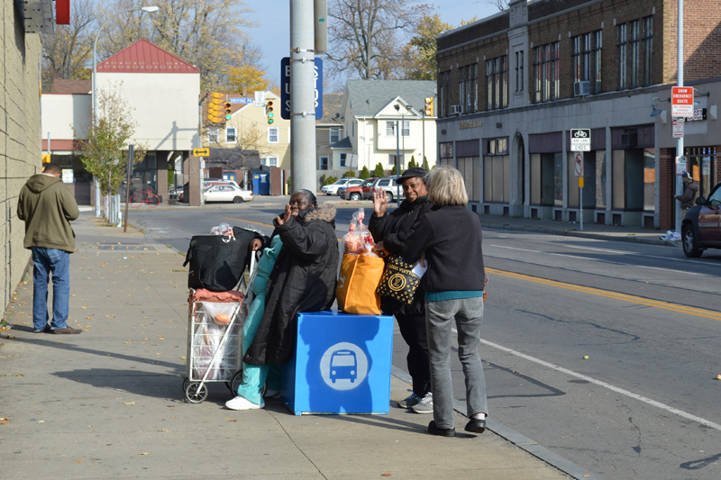 "This ""bus stop cube"" was one of two tested recently in Rochester to help give bus riders a place to rest. Photo: Rochester Subway"