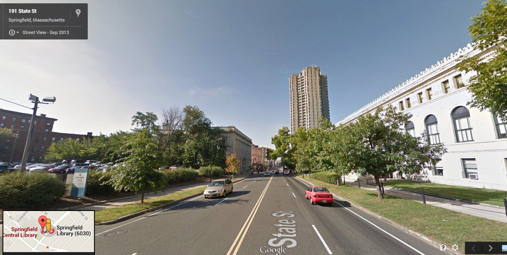 This is the road where two children were seriously injured in Springfield, Massachusetts yesterday. Image: Strong Towns