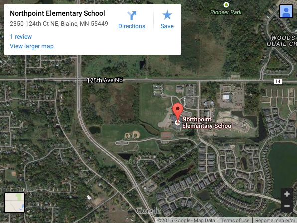 Elementary schools in unwalkable locations goes to show how low a priority place on children's mobility and safety. Image: Streets.mn via Google Maps