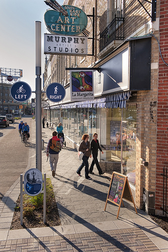 Indianapolis' Cultural Trail puts safe, comfortable connections right where people want to be. Image: NextSTL