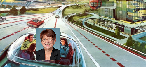 Gwinnett County chair Charlotte Nash and her preferred mode of transport.