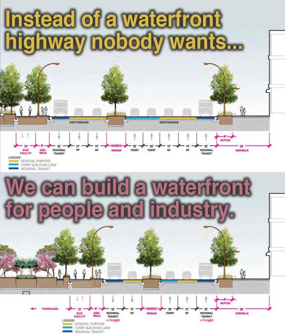 A better alternative for Seattle's new waterfront highway, presented by Seattle Bike Blog.