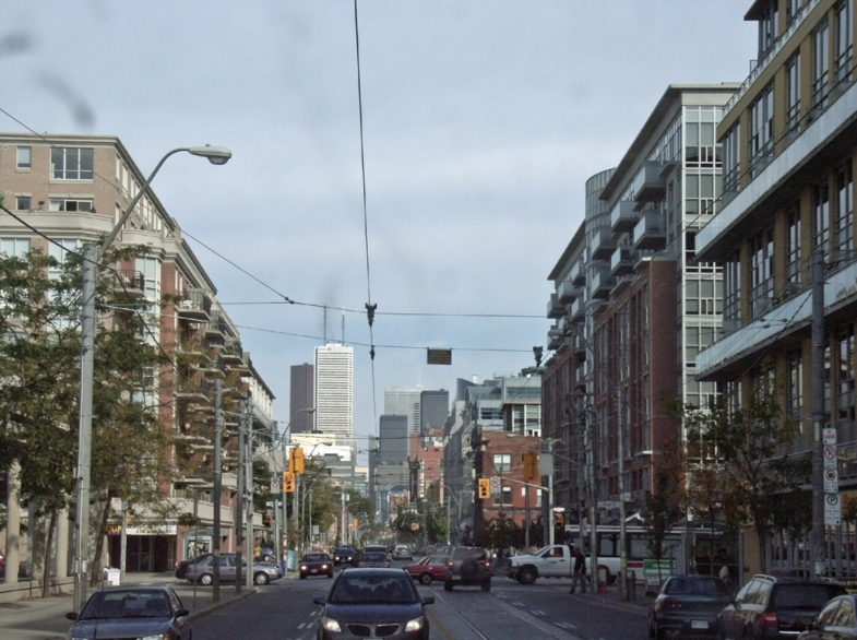 Toronto's King Street, despite running through some of the city's most densely populated areas, has been designed more like a suburban thoroughfare. But that is about to change. Photo: Wikipedia