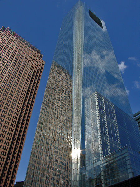 If everyone who worked in Central City Philadelphia drove to work, it would take 28 Comcast Towers full of parking to accommodate them all. Photo: Wikipedia