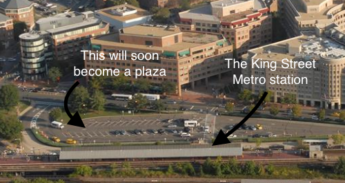 This park-and-ride is going to be replaced with something much more appropriate for this location. Photo: Greater Greater Washington