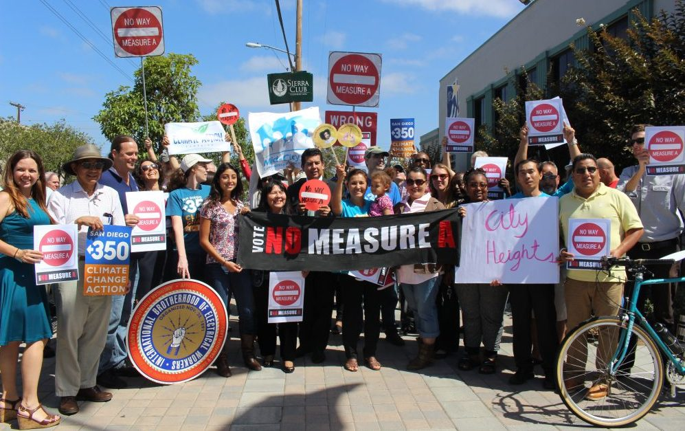 A highway and transit package in San Diego that was opposed by environmentalists was defeated. Photo: BikeSD